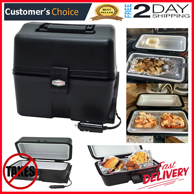 Portable Electric Car Stove 12V Travel Camping Food Warmer Heater Lunch Box Oven