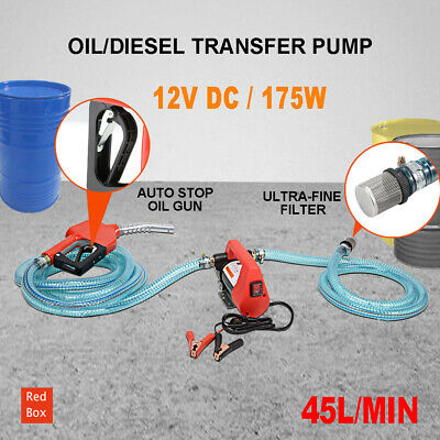 Electric Bowser Transfer Pump Auto Diesel Water BioDiesel Fuel 12V