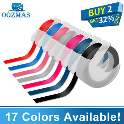 3D Plastic Embossing Label Maker Tape Refill 9mm*3m Compatible DYMO 1610 12965