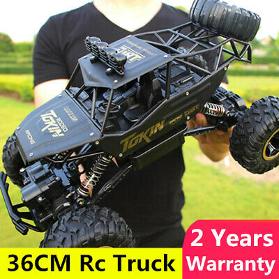 4WD RC Monster Truck Off-Road Vehicle 2.4G Remote Control Buggy Crawler Car 1:12