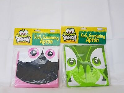 2 x Kids apron - Insect Lore Kids gardening apron. 1 x green and 1 x pink.  New