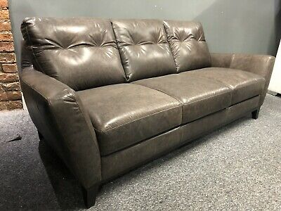 Next Roscoe 2 2 Leather Sofa Set In Rustic Brown Light