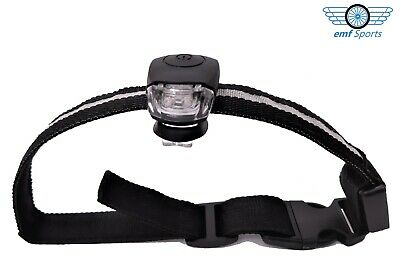 DOG COLLAR Clip On White LED Light - Silicone, Universal Fit, inc Batteries