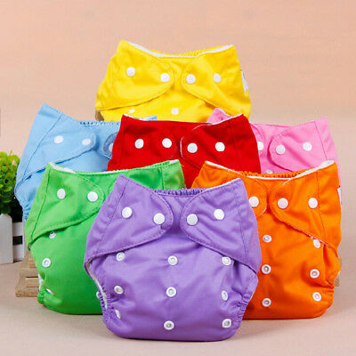Adjustable Reusable Infant Baby Nappy Clothes Diapers Soft Cover Washable Size
