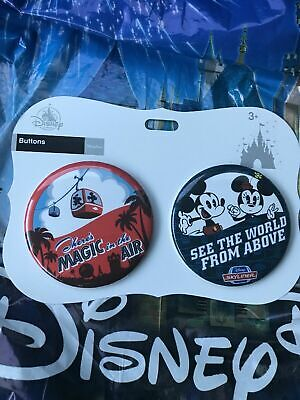 Disney Skyliner There's Magic In The Air And See The World Above Button Set