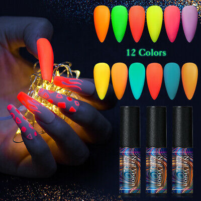 NAIL VISION Luminous Soak Off UV Gel Nail Polish Glow In Dark Varnish Manicure
