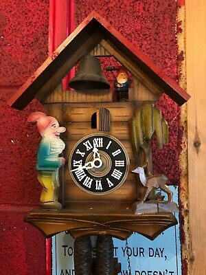 Antique Wood Cuckoo Clock With Gnome