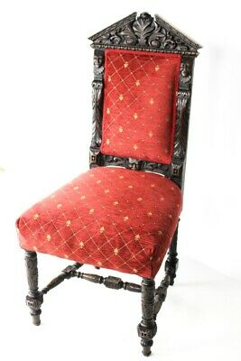 Antique Victorian Carved Oak Chair [5519]