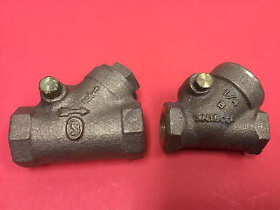 "Lot of (2) - Brass Swing check Valves - 1/2"" & 1/4"" - UNUSED"