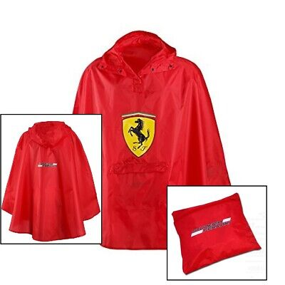 PONCHO 193-600 Lightweight Raincoat Formula One 1 Scuderia Ferrari F1 Team NEW