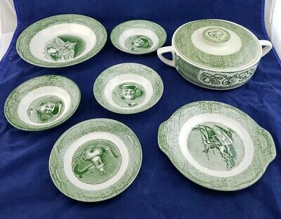 The Old Curiosity Shop Vintage Green and white mixed lot