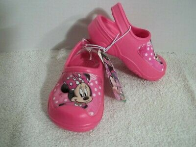 Disney Minnie Mouse Toddler Girls Pink Clogs-7/8 OR 9/10