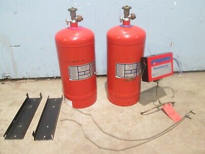 """PYRO-CHEM PCL-350"" COMMERCIAL (2) WET FIRE SUPPRESSION CHEM TANKS w/CONTROL BOX"