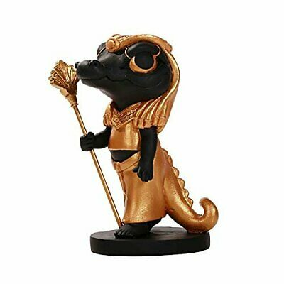 Pacific Giftware Ancient Egyptian Sobek Crocodile Miniature Statue Black Gold