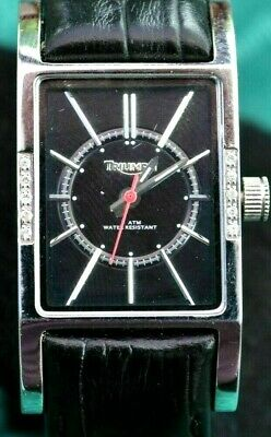 Triumph Motorcycles Ladies Wrist Watch Diamond Bezel Leather Band Gift Boxed