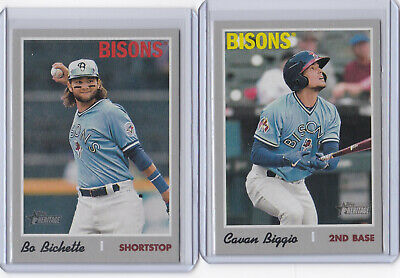 2019 Topps Heritage Minor Leagues YOU PICK Short Print SP Card #s 201-220