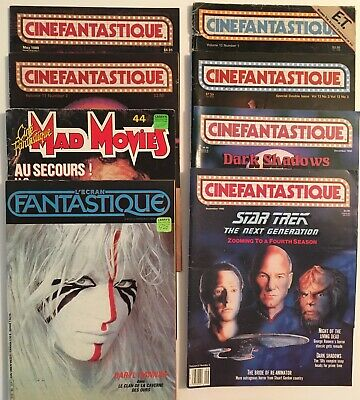 Cinefantastique Magazines, Mad Movies & L'Ecran Fantastique (French) All 80s, 90