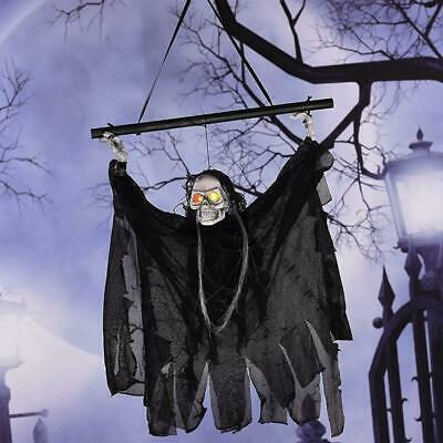 Hanging Glowing Grim Reaper Halloween Skeleton Ghost Scary Horror Prop For Party