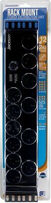 """2U 12 Outlet 19"""" Rack Mounted Powerboard with Surge Protection"""