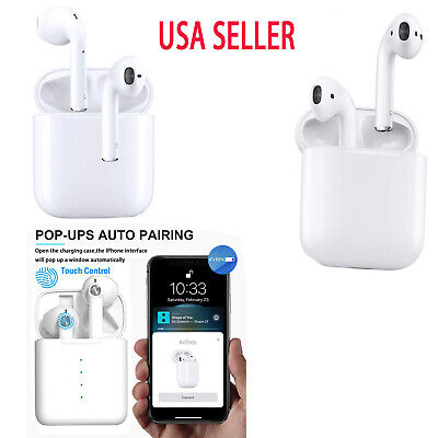 Wireless Earbuds Bluetooth Headsets  Compatible With Apple iPhone AirPods 2 iPad