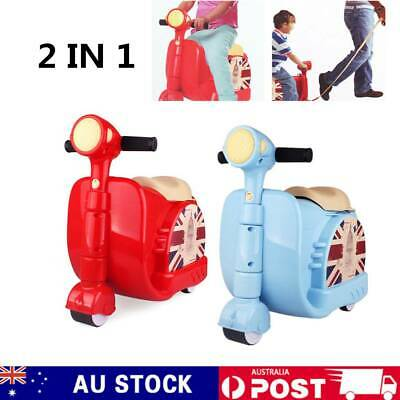 Children Kids Ride On Scooter Suitcase Toy Box Luggage Travel Carry Bag
