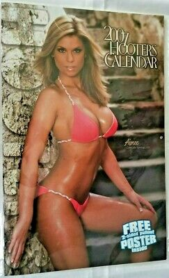 GIANT 2007 Hooters Calendar with 2-Sided Pullout Poster NEW / SEALED Aimee