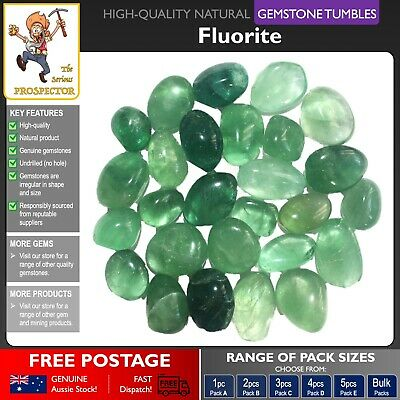 Fluorite Gemstone Tumbles | Natural Gem Stone | Crystal Green | Tumbled Polished