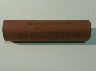 1909/1958 P.D.S Bank Of America San Francisco Lincoln Wheat cent Roll