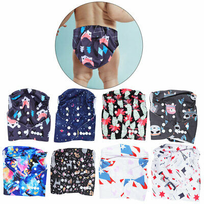 Adjustable Washable Reusable Baby Infant Cloth Diaper Pocket Nappies with Insert