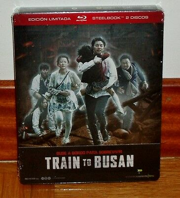 Train to Busan Edition Limited 2 Blu-Ray Steelbook New Sealed (Sleeveless Open)