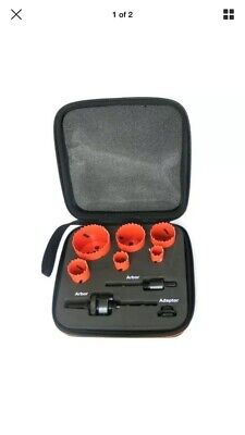 Makita D-47307 Plumbers 16pc Holesaw Accessory Set Metal Case 16mm to 76mm