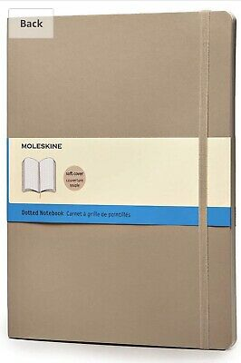 "Moleskine Soft Cover Dotted Notebook Bullet Journal 19x25cm 7.5x9.25"" 192pg Fawn"
