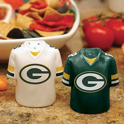 Green Bay Packers Ceramic Jersey Salt and Pepper Shakers