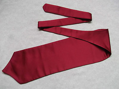 Ascot Cravat MENS Wedding Scrunchie Ruche One Size CLARET RED