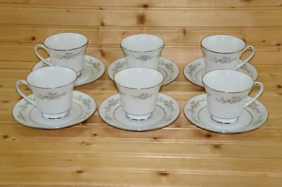 Noritake MELISSA (6) Cup & Saucer Sets | Contemporary Fine China | 3080