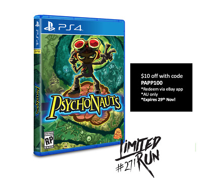 Psychonauts PS4 Playstation 4 Limited Run Games #271 LRG Brand New Sealed