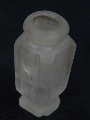 Ancient Rock Crystal Stone Bottle Roman 200 BC #STN541