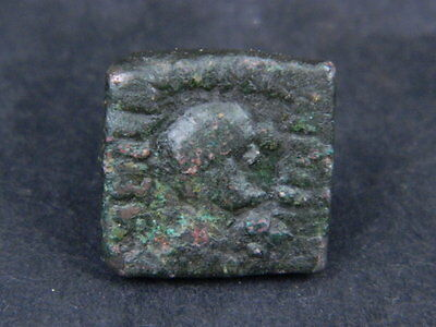 Ancient Bronze Coin Bactrian 100 BC #GL1582