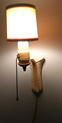 Rewired Antique Electric Wall Sconce Light Rustic Cast Iron Vintage Lincoln Isco
