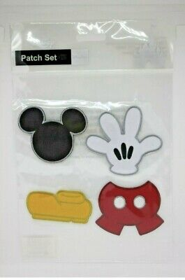 Disney Parks Mickey Mouse Icon Logo Patch Set Pack of 4 NIP