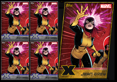 Topps Marvel Collect Card Trader X-Men Die Cut Jean Grey Gold + 4 Silver