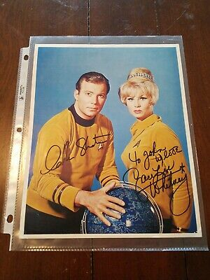 William Shatner & Grace Lee Whitney Signed Color 8x10 Photo Star Trek Autograph