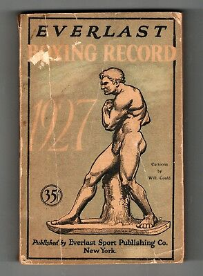 Everlast Publishing Co. 1927 Boxing Record Sports Annual Cartoons William Gould