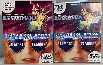 Rocketman & Almost Famous 2-Movie Collection (Blu-ray, 2019) - BRAND NEW