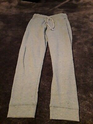 Next Pair Girls  Trousers Jogging Bottoms Green Glitter Age 8 Years