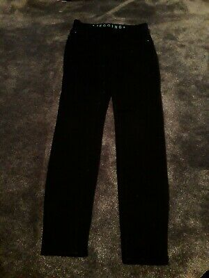 Girls Black Denim Jeggings Jeans Trousers Age 9-10 Years