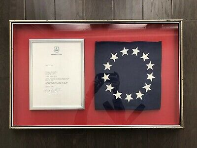 1976 Bicentennial 13 Colonies Flag Flown Over The United States Capitol In Frame