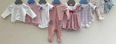 Baby Girls Bundle 0-3 F&F Monsoon Early Days Mothercare M&S H&M Next <H8152