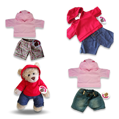 Teddy Bears Clothes fit Build a Bear Hooded Boy Girl Top Jeans Outfits Clothing