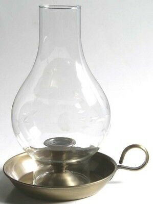 Vintage Princess House Heritage Antique Brass Chamberstick Candle Holder
